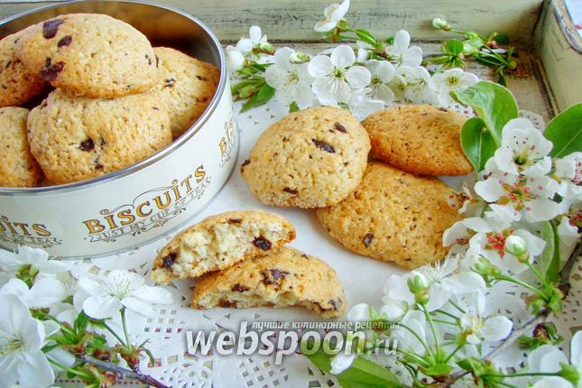 Фото Печенье с шоколадной крошкой йогуртовое