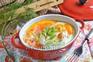 Картофель с яйцом кокот
