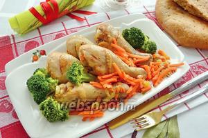 Куриные голени с овощами