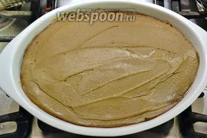 Выложить паштет в форму для запекания, разровнять. Накрыть фольгой и поставить в предварительно нагретую до 180°C  духовку на 30-40 минут. Готовый паштет достать из духовки и дать ему полностью остыть перед тем, как подавать на стол.