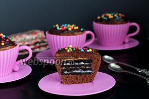 Шоколадно-ореховые маффины «Орео»