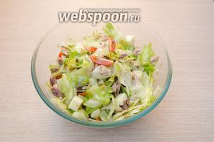 Хорошенько перемешать все ингредиенты. Наш салат готов!
