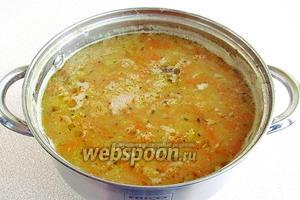 Суп поварить в течение 10 минут.