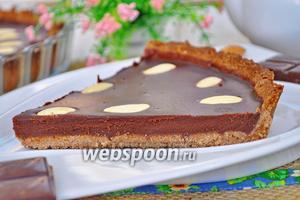 Шоколадно-миндальный тарт