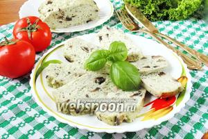Куриная запеканка с грибами и шпинатом