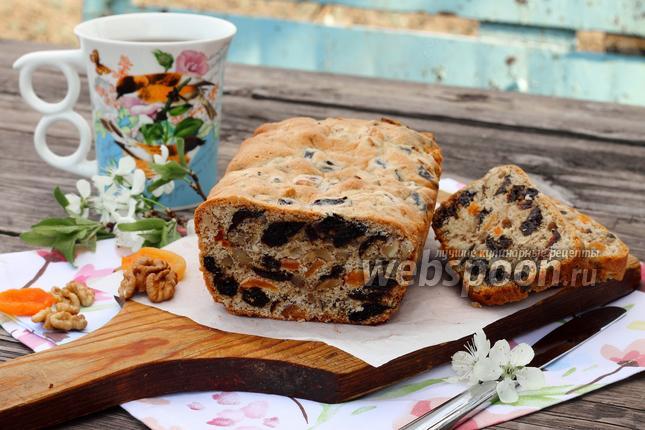 Фото Кекс с сухофруктами и орехами