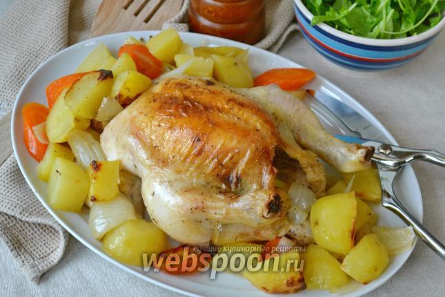 Фото Цыпленок с овощами в пакете