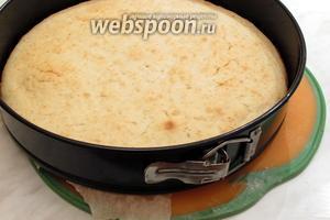 Когда палочка будет сухая, бисквит готов. Снять бока и дать ему остыть, и можно использовать для торта или, посыпав сахарной пудрой, подать к чаю. Приятного чаепития!
