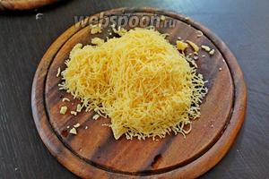 Также мелко натереть сыр.