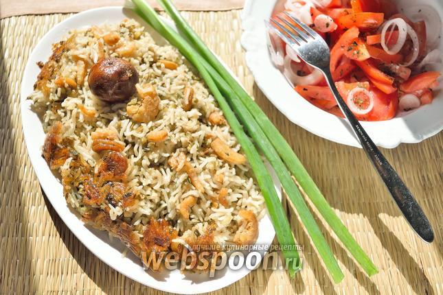 Фото Рис с сушёными креветками и машем