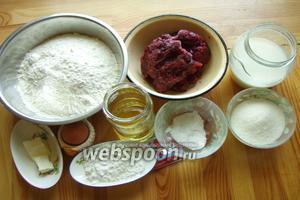 Итак для начала подготовим ингредиенты — дрожжи, растительное масло, молоко, яйца, муку, соль и сахар.