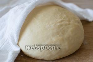 Накройте тесто полотенцем и оставьте на 30 минут. Затем можно использовать тесто по назначению.
