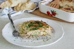 Запеканка с цветной капустой и курицей