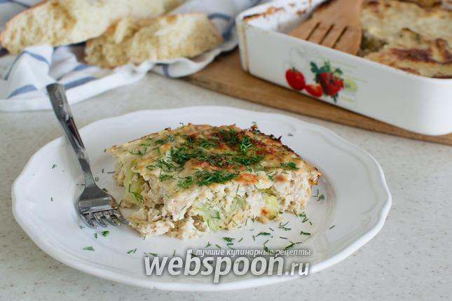 Фото Запеканка с цветной капустой и курицей