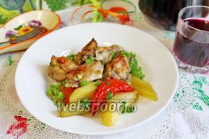 Жаркое с курицей и овощами в духовке