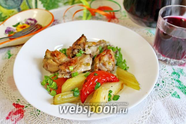 Фото Жаркое с курицей и овощами в духовке