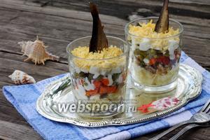 Салат со шпротами Акватика