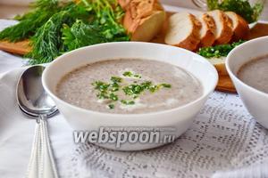 Суп-пюре из сморчков