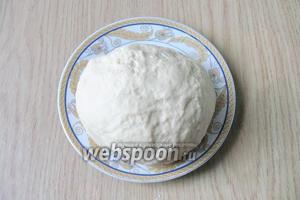 Тесто должно быть гладким и достаточно крутым. Именно такое тесто можно тонко раскатать. Накрываем его полотенцем и даём «отдохнуть» 30-40 минут.