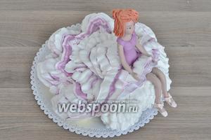 Вот такой получился торт из капкейков.