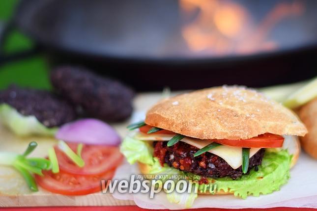 Фото Гамбургер на гриле