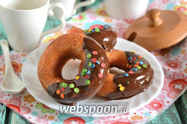 Фото Пончики на сковороде «Фантазия» в шоколаде