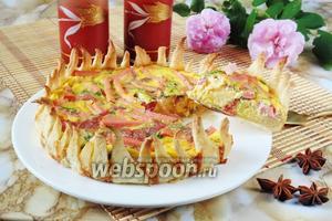 Закусочный пирог с колбасой «Цветок»
