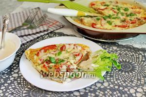 Тилапия с помидорами в омлете, запечённая в духовке