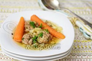 Суп весенний с говяжьими шариками