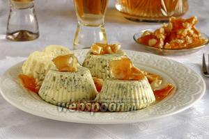 Творожно-шпинатное суфле с пралине