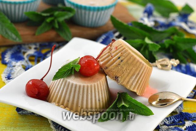 Фото Мороженое крем-брюле с творогом и вишней