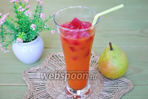 Морковно-грушевый фреш с замороженным гранатовым чаем
