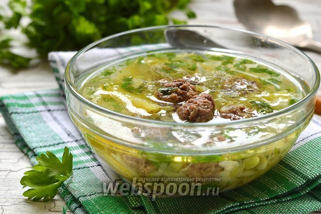 Фото Суп с фрикадельками и капустой