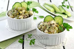 Салат из сардины в масле и горошка
