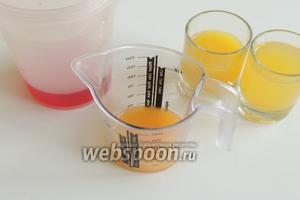 И завершаем добавлением апельсинового и ананасового соков.