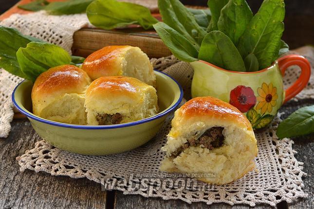 Фото Пирожки с печенью и укропным маслом