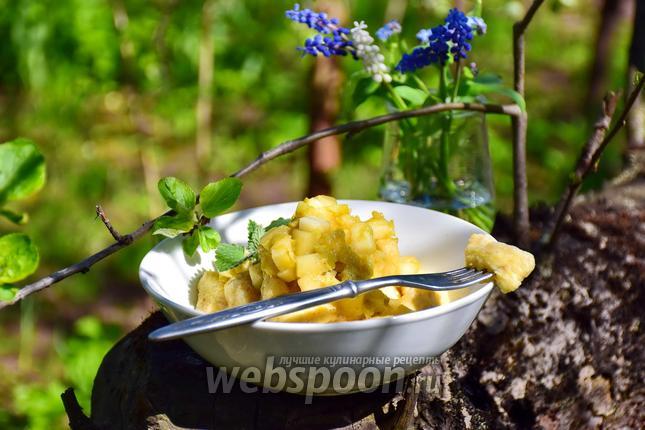 Фото Ленивые вареники с яблоками