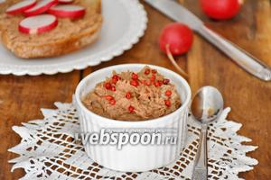 Паштет из сардин и вяленых томатов