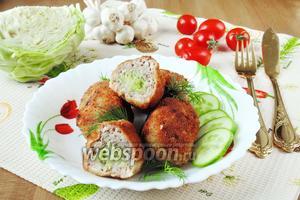 Зразы мясные с капустой