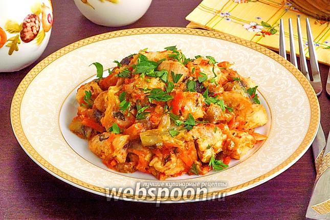Фото Овощное рагу с курицей