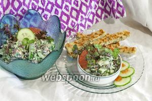 Салат из грейпфрута, клевера и мяты