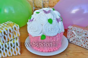 Торт ванильный капкейк с кремом маскарпоне