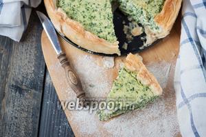 Тарт с рикоттой и шпинатом