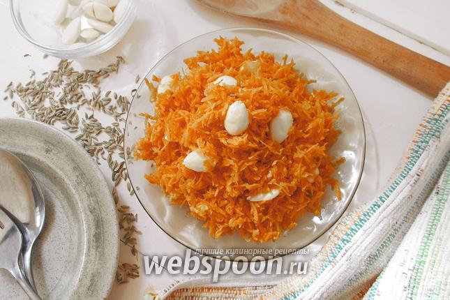 Фото Морковный салат с миндалём