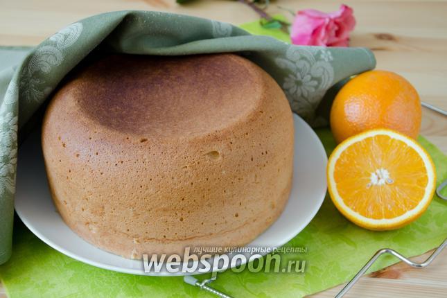Фото Апельсиновый бисквит в мультиварке