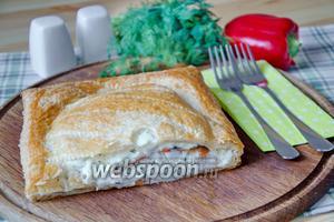Слоёный пирог с рыбой