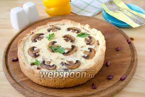 Пирог с красной фасолью и грудинкой