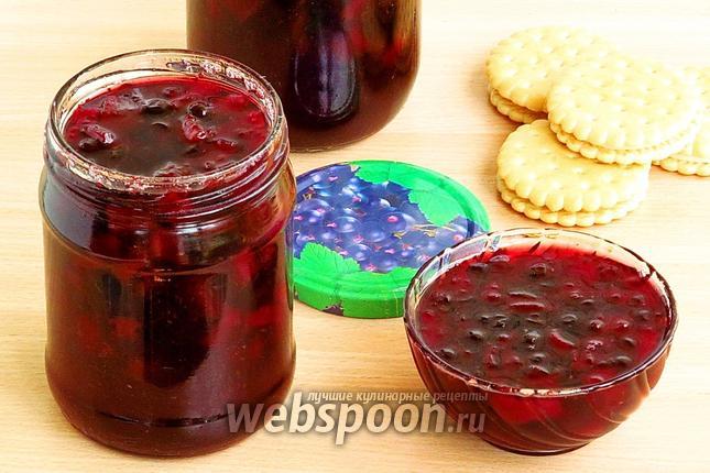Фото Варенье из чёрной смородины и кабачков
