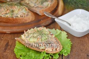 Бутерброды «по-шведски» с сардинами