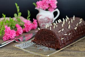 Шоколадно-ореховый кекс с пудингом